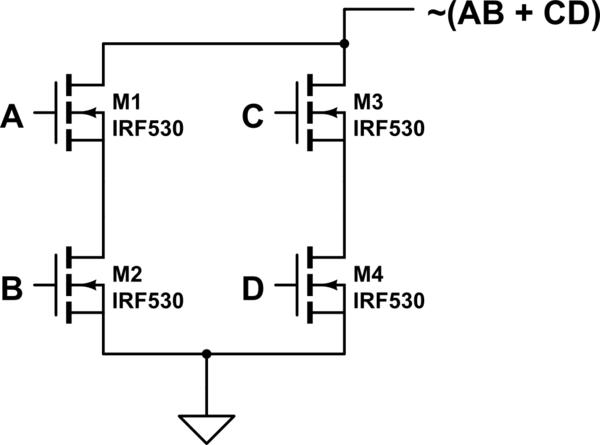 transmission gate logic wiring of an xor gate