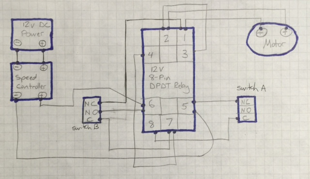 12 Volt Dc Limit Switch Wiring Diagram Dc Motor Speed Controller Causing Relay To Lose Voltage