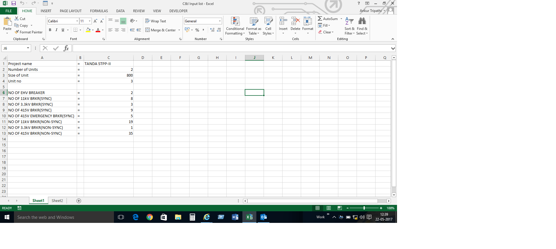 Populate Rows Based On Inputs On Another Sheet In Excel