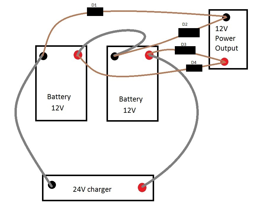 24 Volt Battery System Diagram. Wiring. Wiring Diagram Images