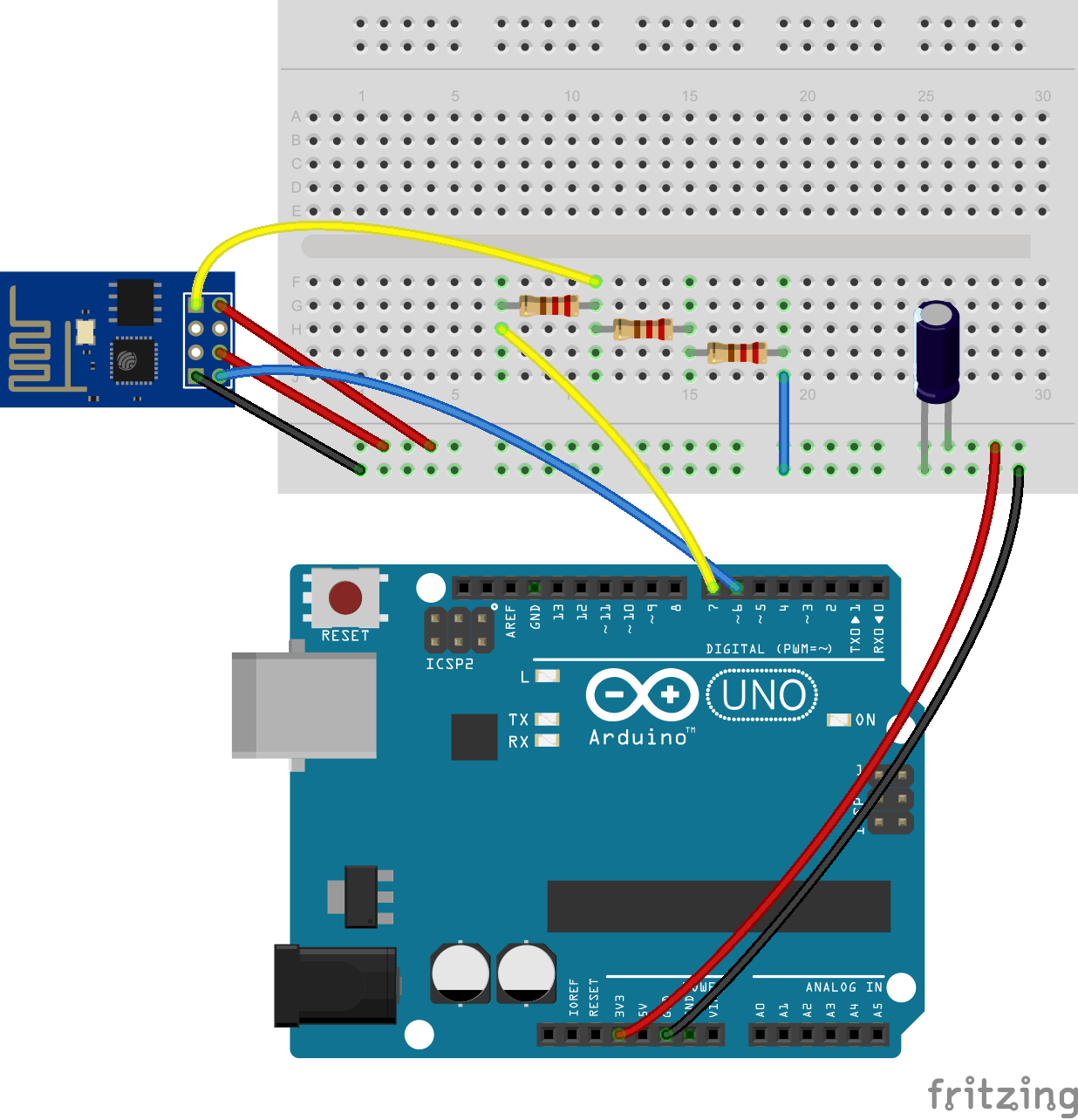 rf tx and rx circuit diagram anterior heart unlabeled arduino uno esp8266 stops responding when isolated relay