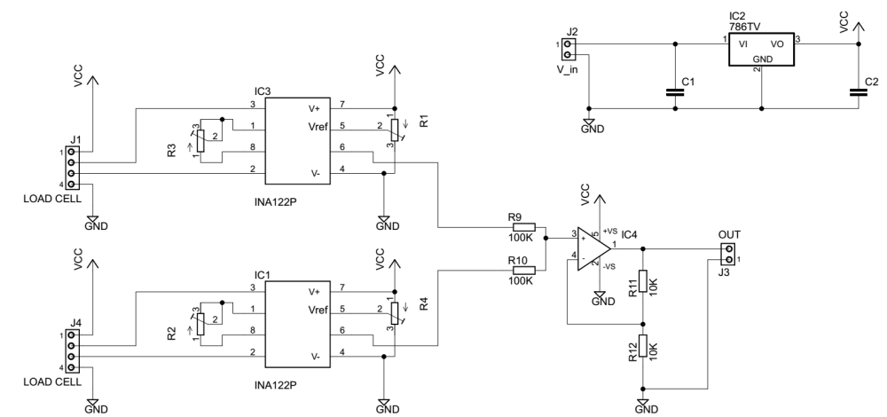 medium resolution of load cell amplifier circuit electrical engineering stack exchange load cell wiring color code enter image description