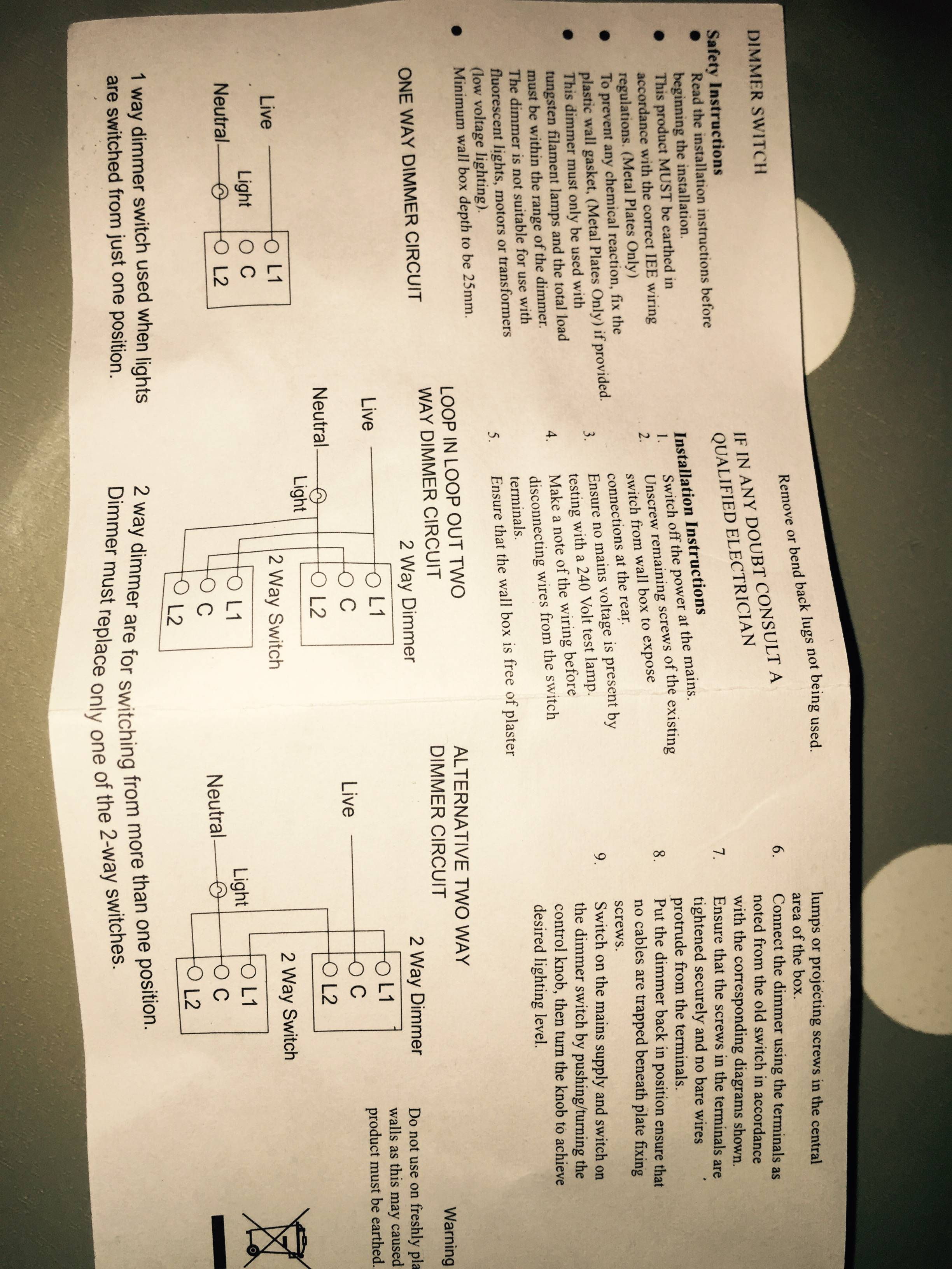 Gang Switch Wiring Diagram Help Wiring 4 Gang Switch Panel 4
