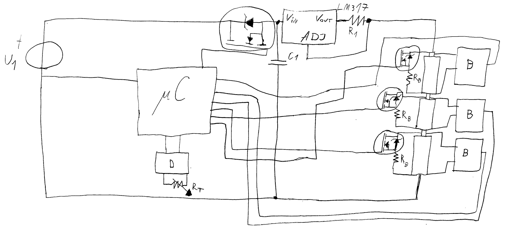 hight resolution of terrible freehand drawing of the circuit
