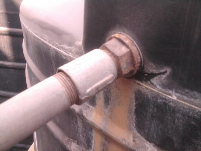 leak  How can I repair a leaking water tank  Home
