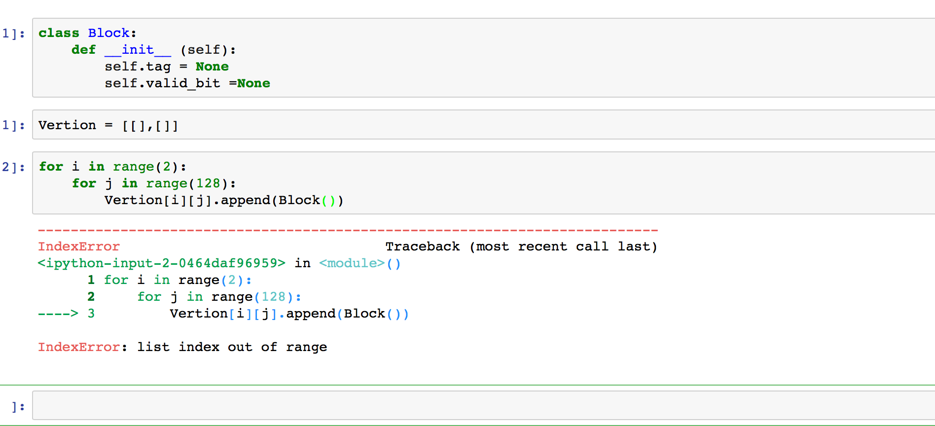 Python: IndexError: list index out of range and Class objects - Stack Overflow