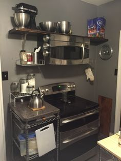 ots microwave without a cabinet above
