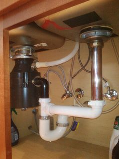 plumbing  What is required to relocate a garbage disposal