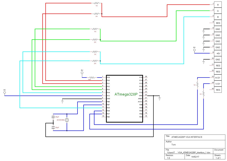 hight resolution of atmega328p hardware implementation