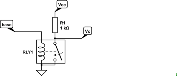 How does a digital logic NOT (inverter) gate work