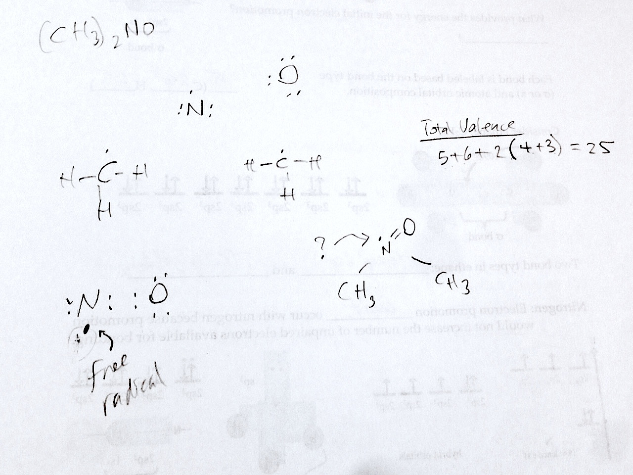 Lewis Structure On Ch3 2no