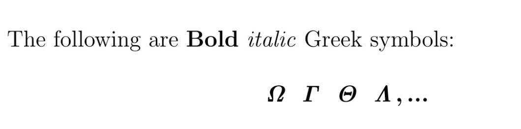 Latex Bold Greek Letters Not Italic Inviletter
