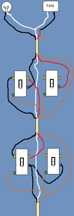 Wiring A Light Fixture To Three Way Switch