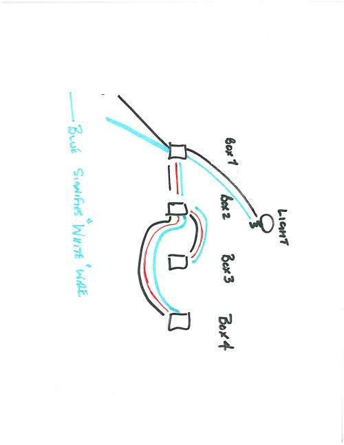 small resolution of can i use 14 3 wire to connect a new switch on a branch in a 4 way circuit