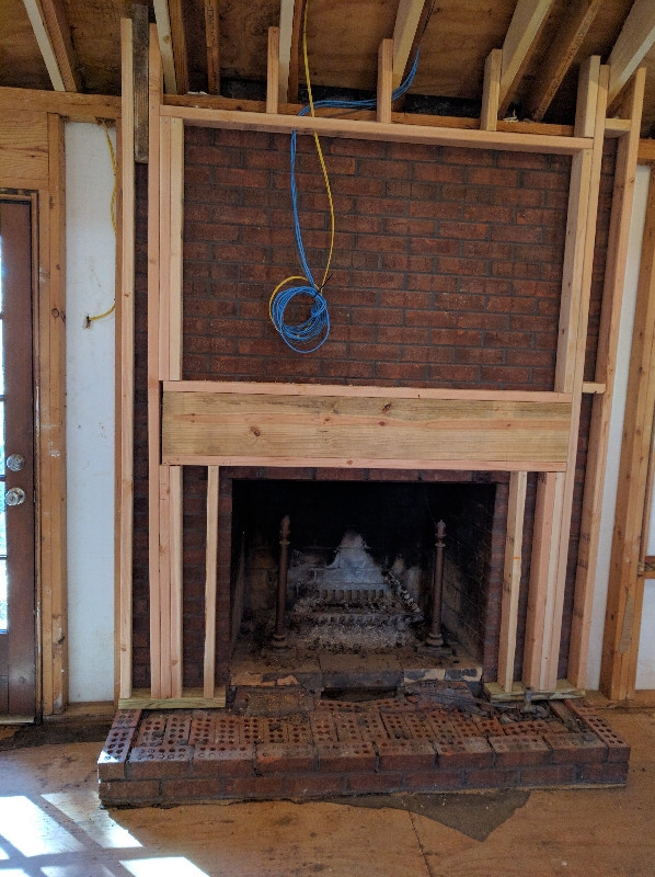 tile  Structure for mounting TV above fireplace  Home