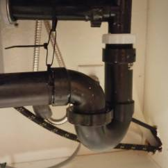 Kitchen Sink Drain Black Hutch Plumbing How Do I Repair This Friction Abs Pipe Enter Image Description Here
