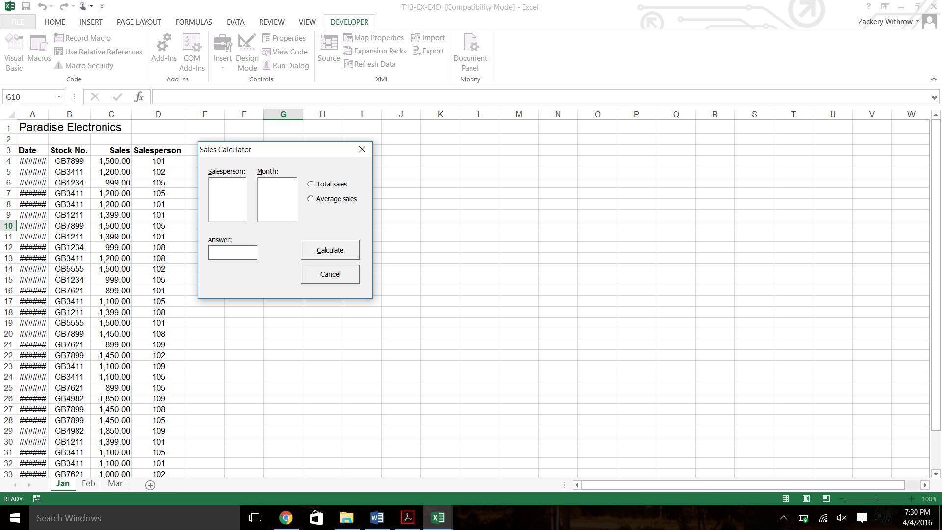 Declare Worksheet Variable Vba