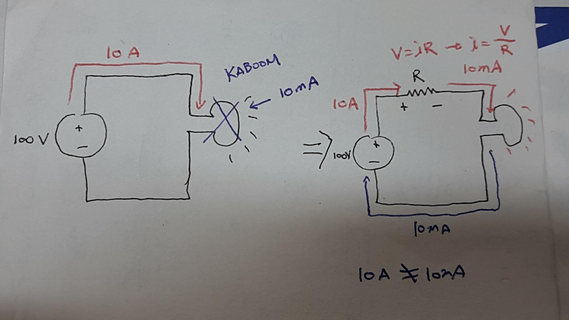 Current Flow Intuition In A Circuit