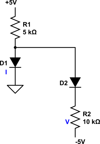 Diode circuit question. Got answer but not sure about