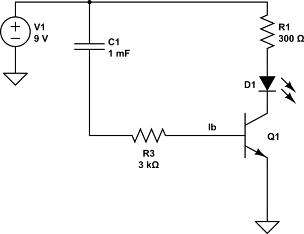 Can I use a capacitor and a transistor to create a circuit