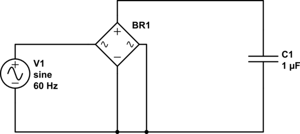 Why is it that a full bridge rectifier requires input to