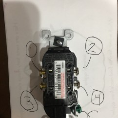 Wiring Diagram For A Switched Outlet John Deere Gator Alternator Electrical 3 Sets Of Wires In Box Lights Won T Turn Off Simple Two Post Switch New Plug With Posts Labeled Reference