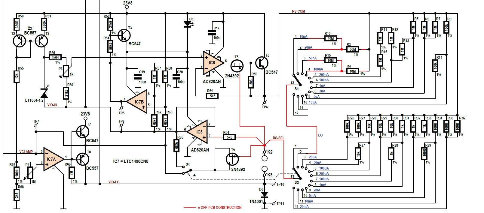 Component usage in this constant-current source circuit