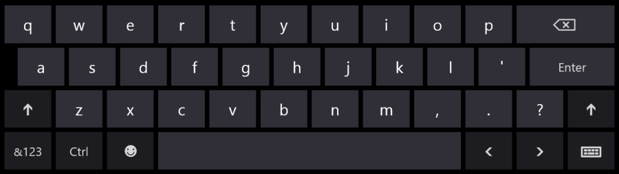 US English Keyboard Layout with lowercase letters