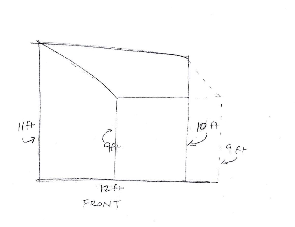 Calculating The Volume Of A Room With A Lopsided Ceiling