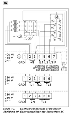 3 Phase To 1 Phase Wiring Diagram Electrical How Should I Wire This Sauna Heater Home