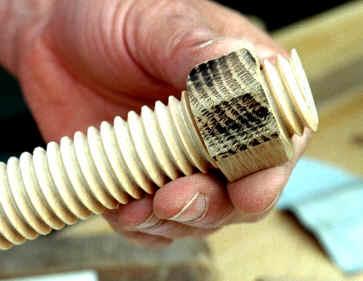 Threaded Wooden Rod