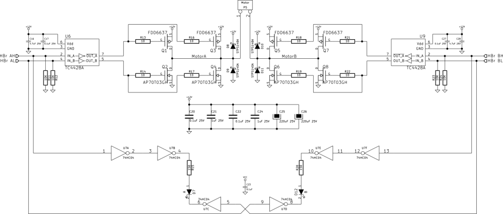 medium resolution of schematic bringing the board up i started with 100 duty cycle non pwm mode and found it functional so i began pwming one of the low side n channel