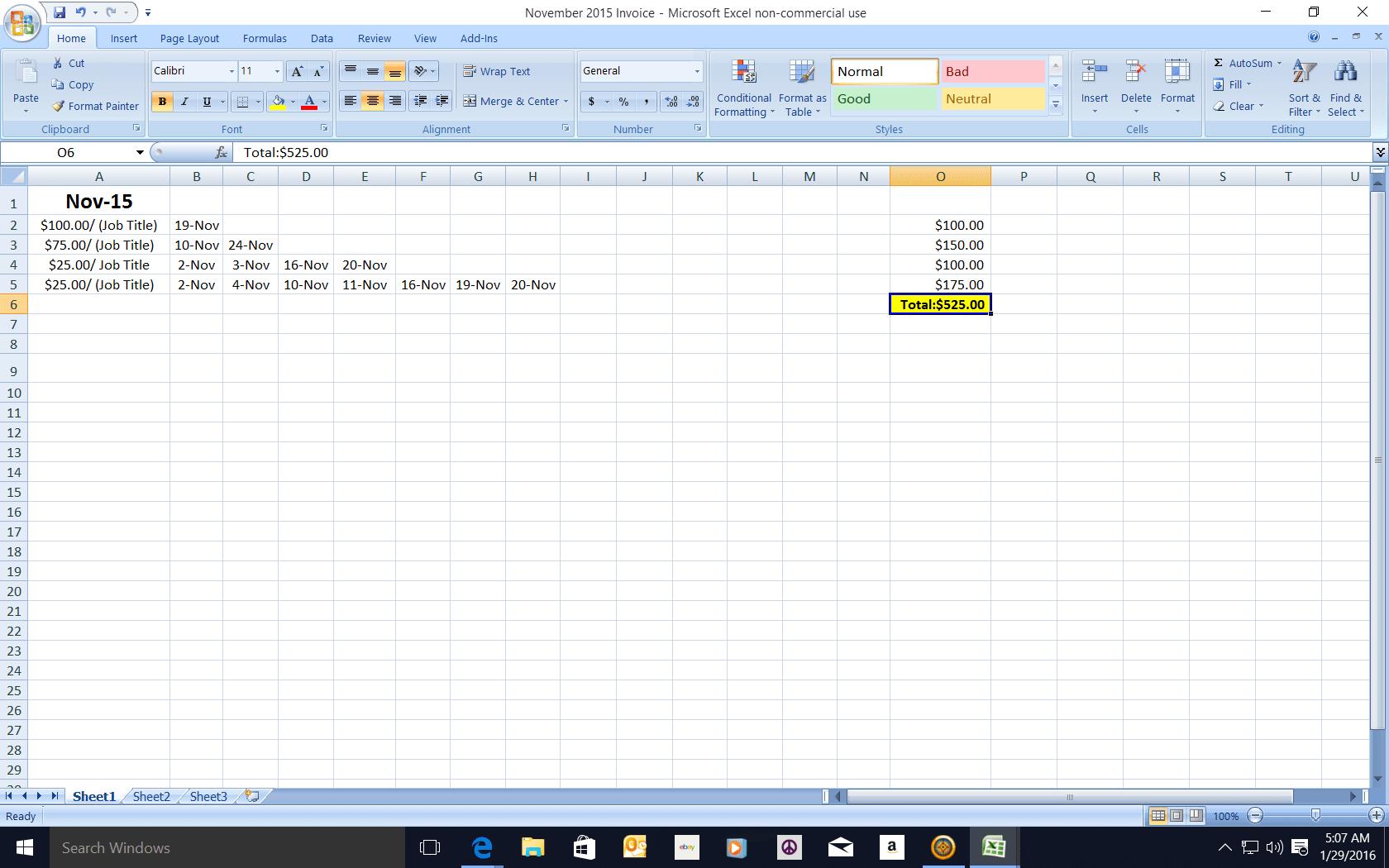 Combining Excel Worksheet