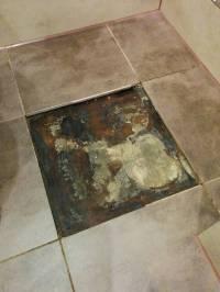 flooring - How to repair leak mould under bathroom floor ...