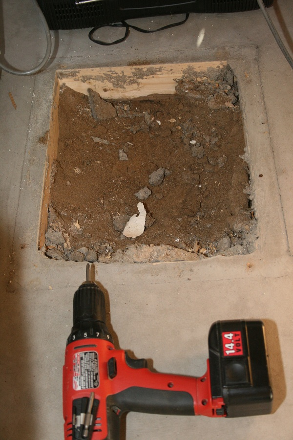 Basement How Should I Finish Around This Hole In My Slab