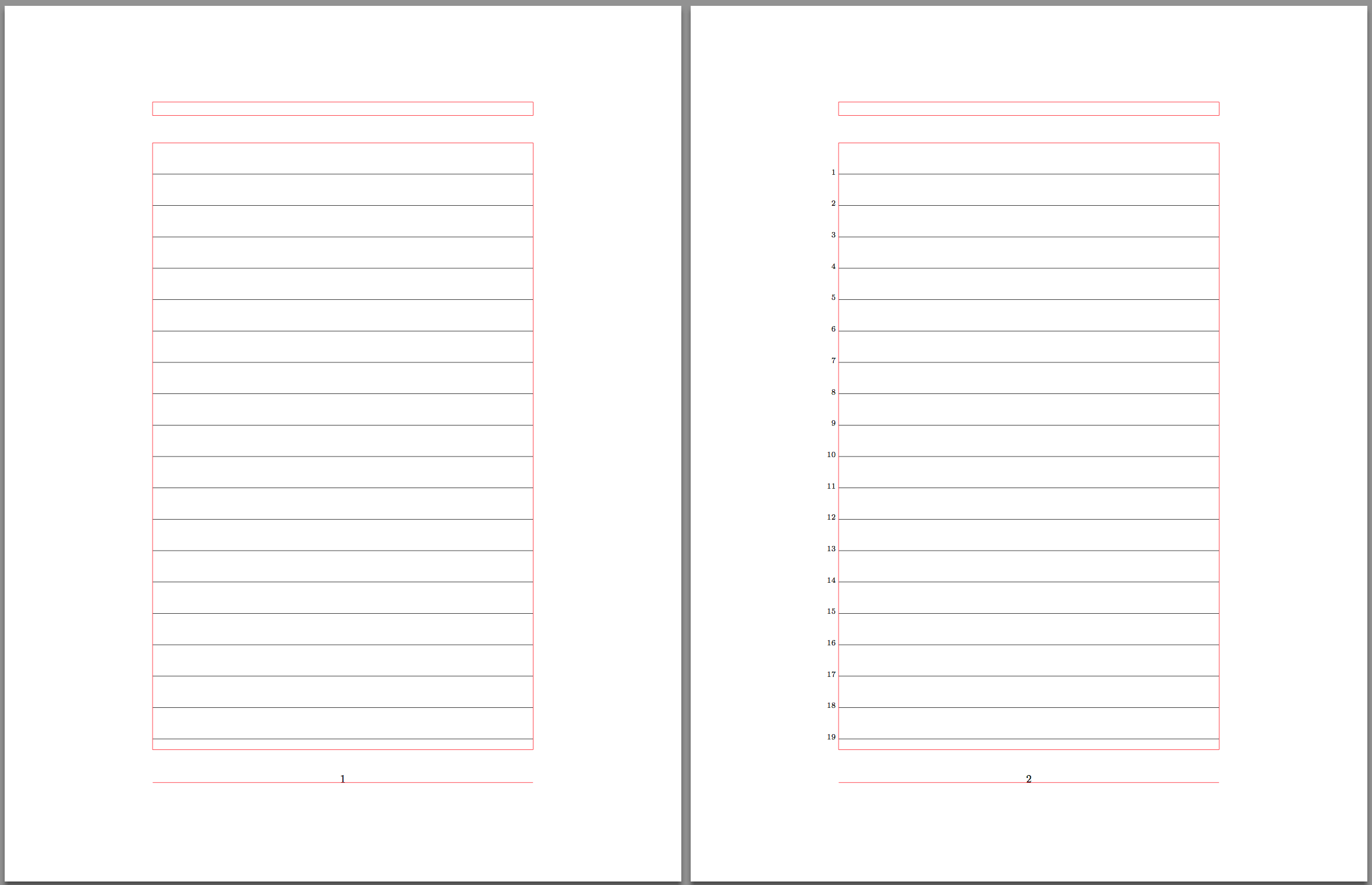 How To Create A Lined Page With Line Numbers