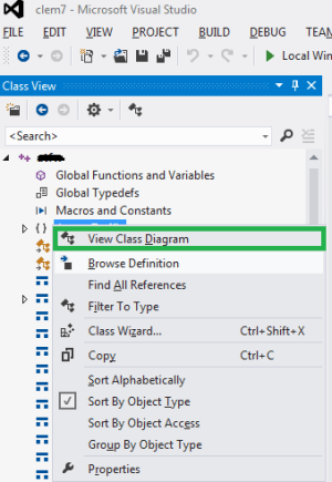 Visual Studio  Generate UML from a c project  Stack