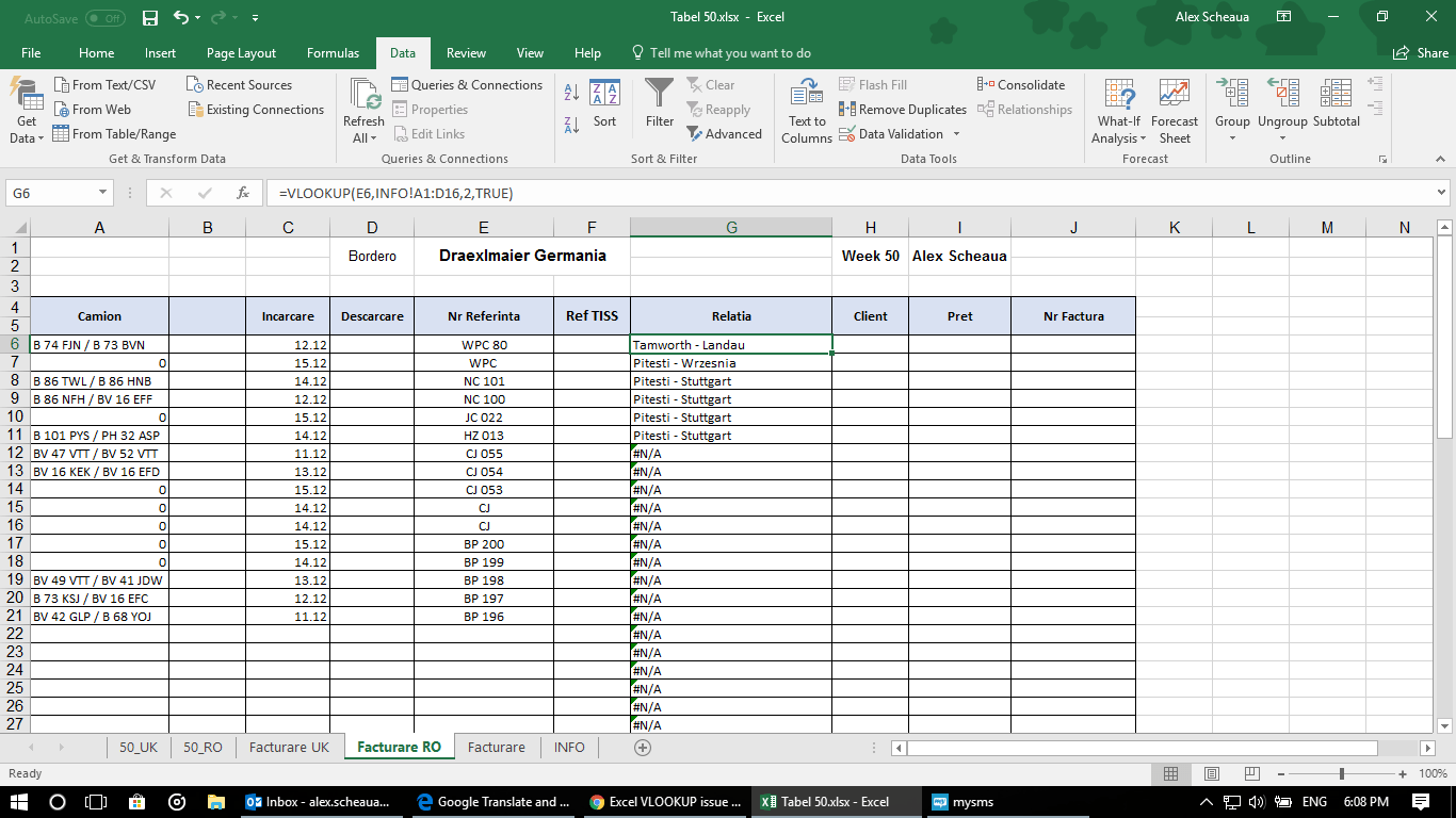 Excel Vlookup Issue