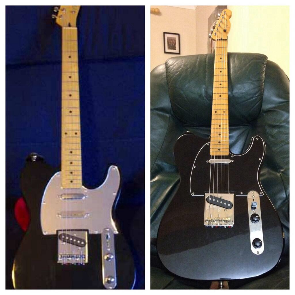 hight resolution of telecaster before and after