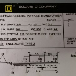 Three Phase Wiring Diagrams For Transformers Honda Goldwing 1500 Diagram 75kva 208v Delta To Y Transformer Input