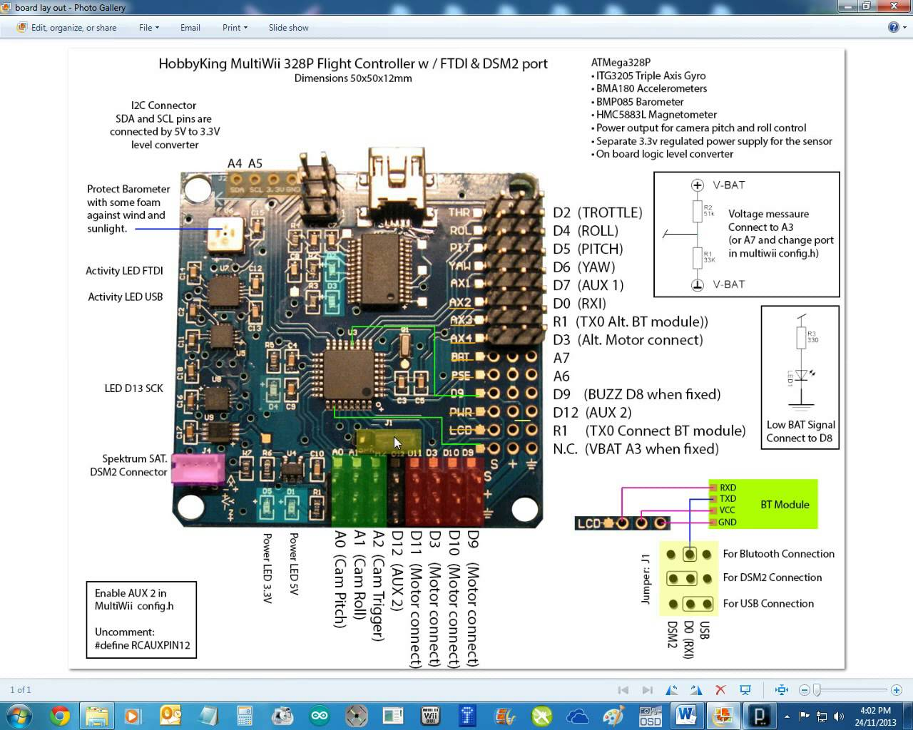 hight resolution of i have attached the schematic of multiwii 328p and turnigy 9x 9ch receive enter image