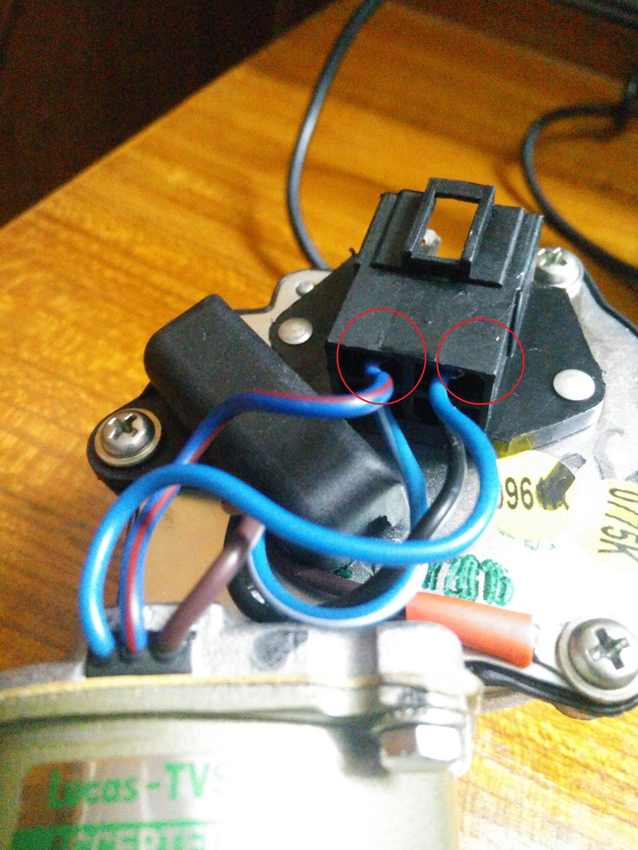 4 wire dc motor connection diagram boiler wiring batteries how to connect a windshield wiper power wires of