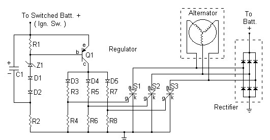 motorcycle voltage regulator schematic diagram