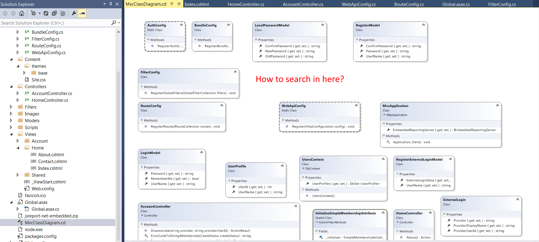 visual studio view class diagram 2003 chevy tahoe radio wiring search in stack overflow