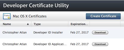 Developer Certificate Utility