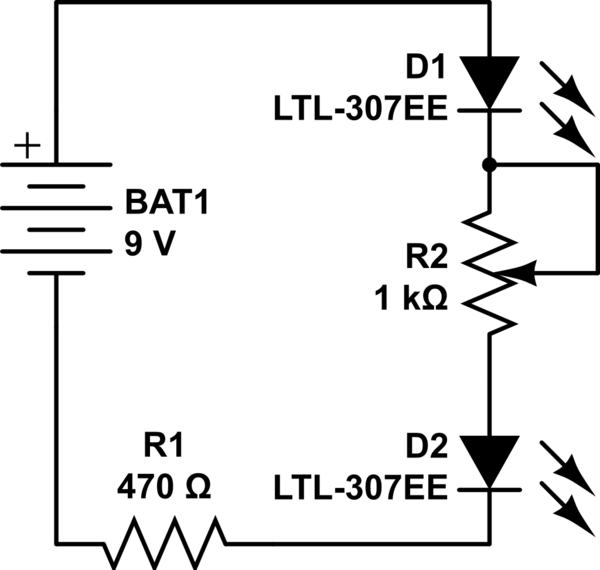 Why changing the potentiometer affects the whole circuit
