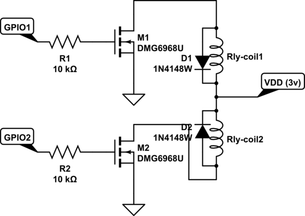 microcontroller Driving a 3v Latching Relay with an 18v