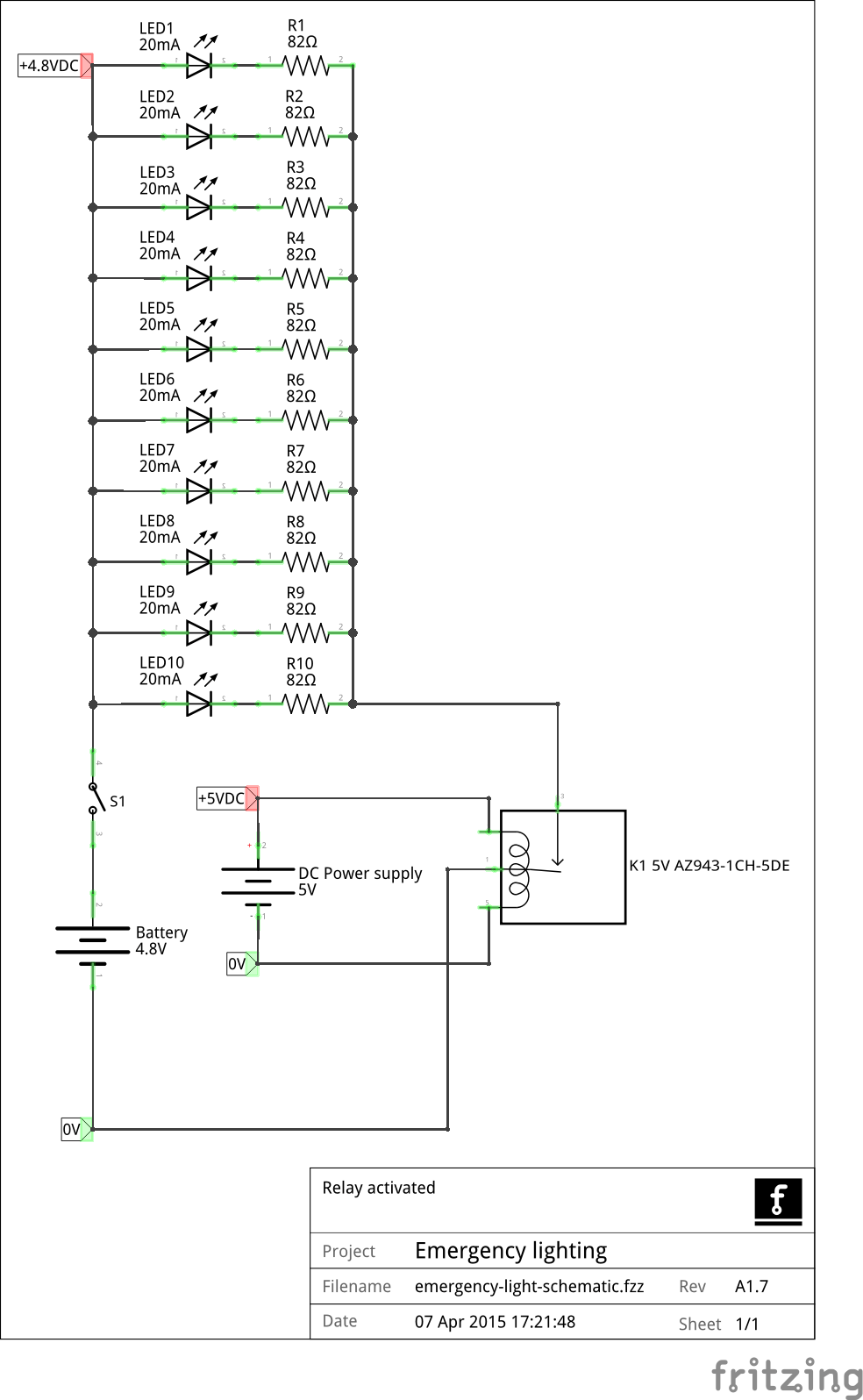 wiring diagram for emergency lighting switch york air conditioner led - relay activated electrical engineering stack exchange