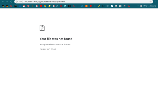 image of error page