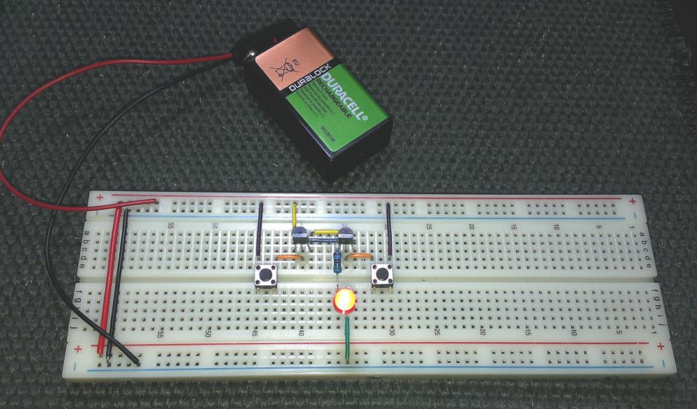The Thyristor Breadboard Circuit